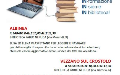 BIBLIOTECA – IN al sabato nelle biblioteche di Albinea e di Vezzano
