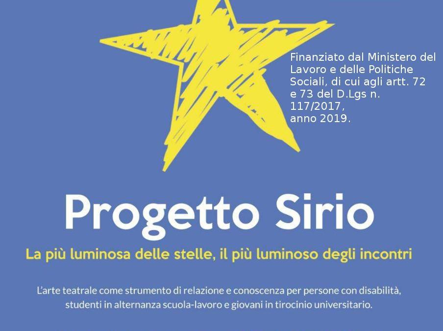 PROGETTO TEATRALE SIRIO – SI COMINCIA!